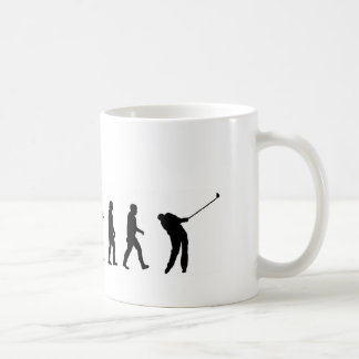 Golf de la evolución EVO06, golfista Taza Básica Blanca
