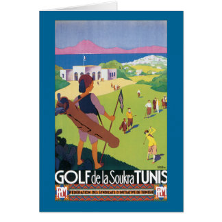 Golf de la Soukra Tunis Greeting Card