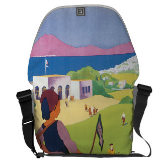 Golf de La Soukra Tunis Vintage Travel Poster Messenger Bag