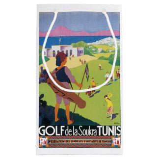 Golf de La Soukra Tunis Vintage Travel Poster Small Gift Bag