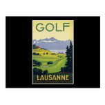 Golf de Lausanne Tarjeta Postal