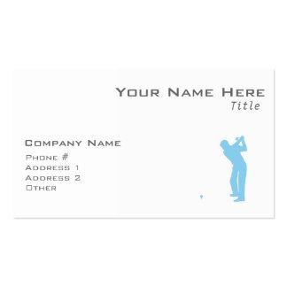 Golf de los azules cielos tarjeta de negocio