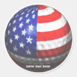 Golf de los E.E.U.U. Pegatina Redonda