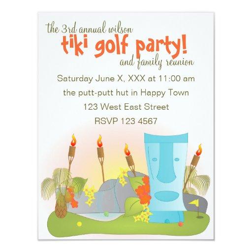 """Golf de Tiki Invitación 4.25"""" X 5.5"""""""