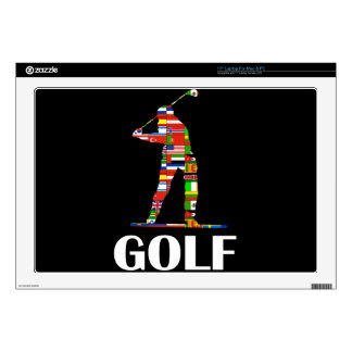 """Golf Decals For 17"""" Laptops"""