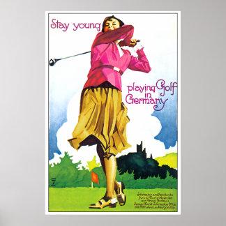 Golf del alemán del vintage póster