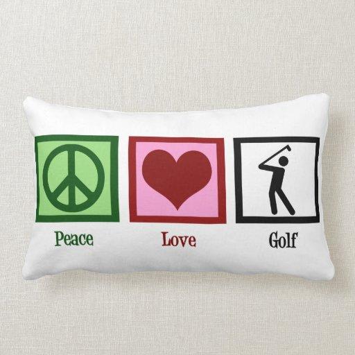 Golf del amor de la paz cojines