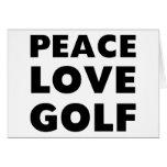 Golf del amor de la paz felicitaciones