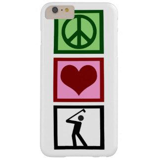 Golf del amor de la paz funda de iPhone 6 plus barely there