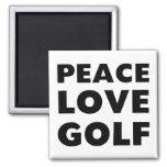 Golf del amor de la paz iman