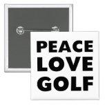Golf del amor de la paz pins