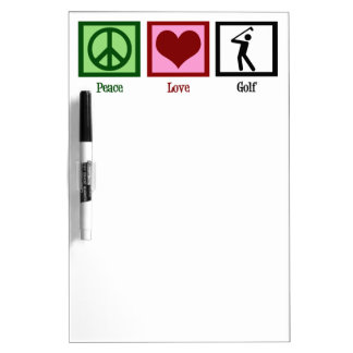 Golf del amor de la paz tablero blanco