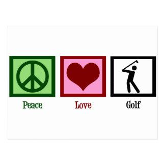 Golf del amor de la paz postales
