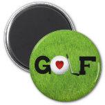 Golf del amor imán para frigorifico