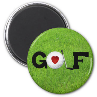 Golf del amor imán redondo 5 cm