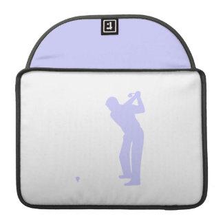 Golf del azul de la lavanda fundas para macbooks