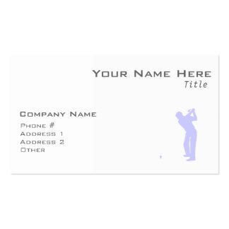 Golf del azul de la lavanda plantilla de tarjeta de visita