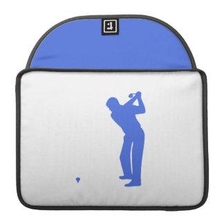 Golf del azul real y del blanco fundas para macbooks