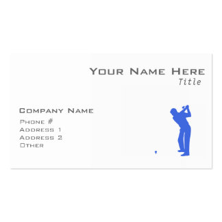 Golf del azul real y del blanco tarjeta de visita