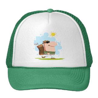Golf del día soleado - camisetas y regalos blancos gorro