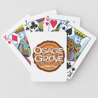 Golf del disco de la arboleda de Osage Baraja Cartas De Poker
