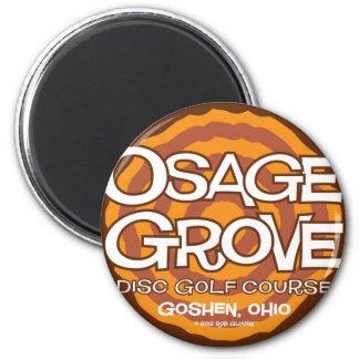 Golf del disco de la arboleda de Osage Imán Redondo 5 Cm