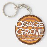 Golf del disco de la arboleda de Osage Llaveros Personalizados
