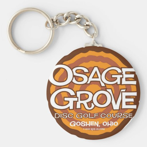 Golf del disco de la arboleda de Osage Llavero Redondo Tipo Pin