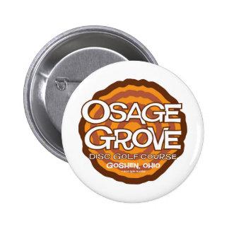 Golf del disco de la arboleda de Osage Pin Redondo De 2 Pulgadas
