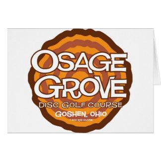 Golf del disco de la arboleda de Osage Tarjeta De Felicitación