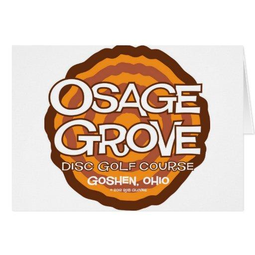 Golf del disco de la arboleda de Osage Felicitacion