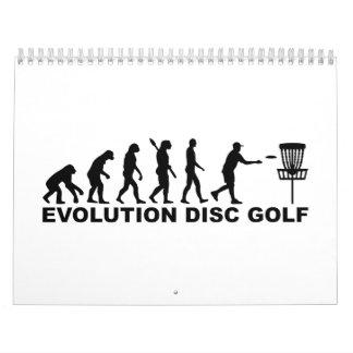 Golf del disco de la evolución calendario