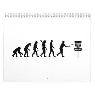 Golf del disco de la evolución calendarios