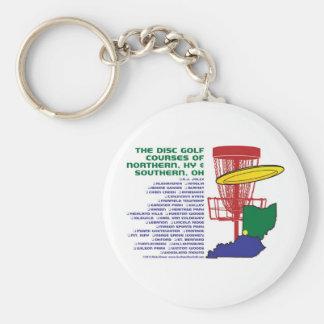 Golf del disco de Ohio Kentucky Llavero Redondo Tipo Pin