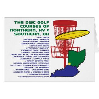 Golf del disco de Ohio Kentucky Tarjeta De Felicitación