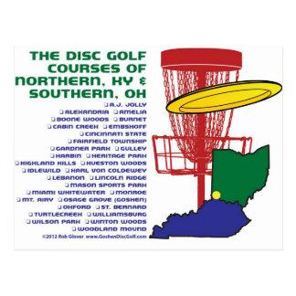 Golf del disco de Ohio Kentucky Tarjeta Postal