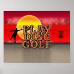 Golf del disco del juego poster