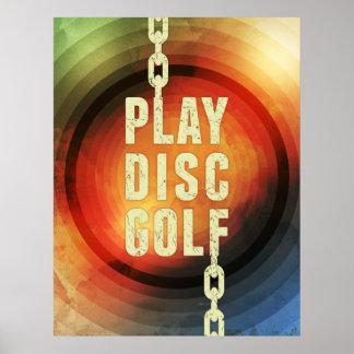 Golf del disco del juego póster