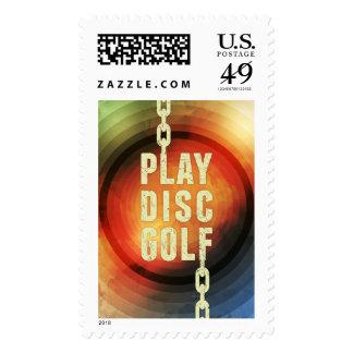 Golf del disco del juego franqueo
