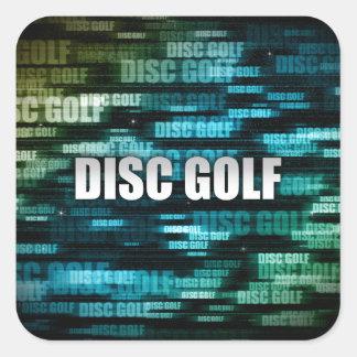 Golf del disco calcomanía cuadradas