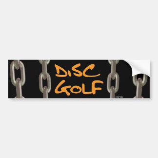 Golf del disco pegatina para auto
