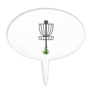 Golf del disco volador figura para tarta