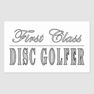 Golf del disco y golfistas del disco: Golf del Rectangular Pegatina