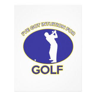 golf del golf membrete