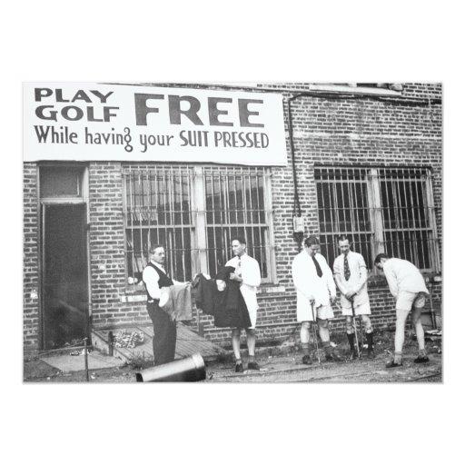Golf del juego libre (mientras que haciendo su invitacion personalizada