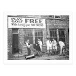Golf del juego libre (mientras que haciendo su postales