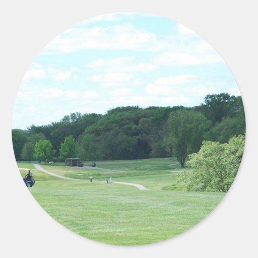 Golf del juego pegatinas redondas