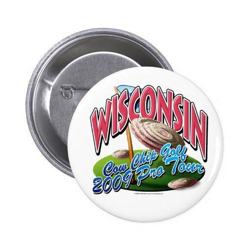 Golf del microprocesador de vaca de Wisconsin Pin