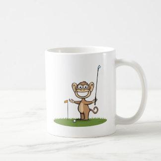 Golf del mono tazas de café