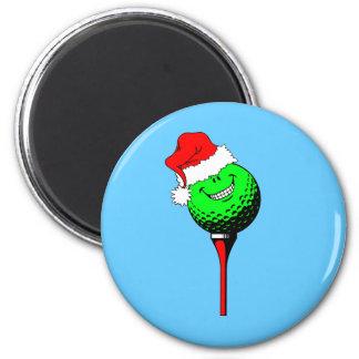 Golf del navidad imán redondo 5 cm